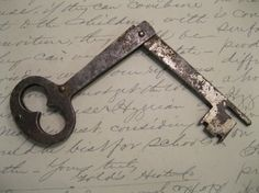 Antique 1800s Folding Skeleton Key by Suite22 on Etsy, $10.00