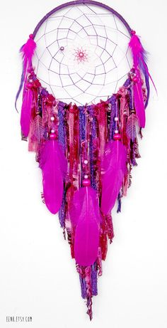 Dreamcatcher- Crystal Cave Hidden in a Purple Forest Large Native Style by eenk