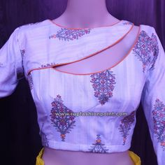 Most Impressive Designer Saree Blouse Cutting and Stitching - Rup Fashion Point Sleeves Designs For Dresses, Neck Designs For Suits, Blouse Neck Designs, Kurta Designs, Patch Work Blouse Designs, Best Blouse Designs, Designer Blouse Patterns, Kurti Patterns, Sewing Patterns