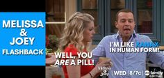 """S3 Ep33 """"Don't Look Back in Anger"""" - FLASHBACK  #MelissaAndJoey"""