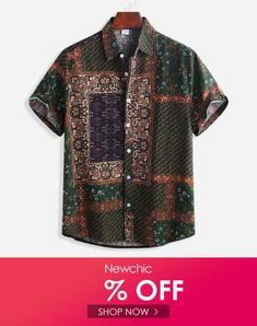 YUNY Men Cotton Oversize Summer Short-Sleeve Leisure Button Down Shirt 15 M