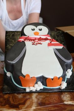 Penguin Birthday Cake @Brenda Franklin Devers