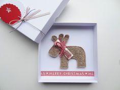 Immer schön Geld verschenken..das muss am 27. ganz bestimmt nicht umgetauscht werden, auch wenn man es schon hat. Geldgeschenk Weihnachten Rentier von schnurzpieps auf DaWanda.com
