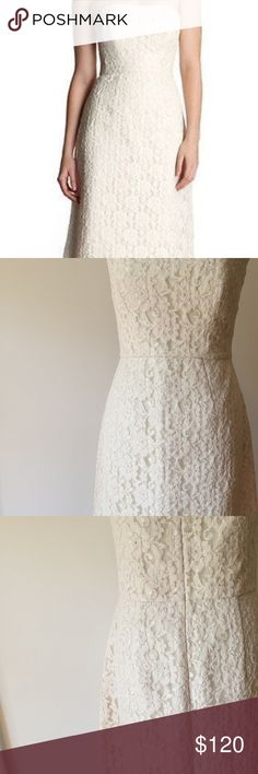 Ted Baker London Lace Dress NWOT Formal White Ivory Lace Avi Dress, US Size 8. Tag marked for non-returnable Ted Baker London Dresses