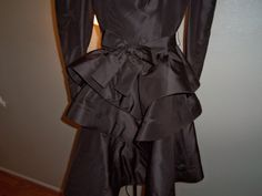Scassi Vintage  Chocolate Brown Silk Petal Skirt  by josephine7075, offers