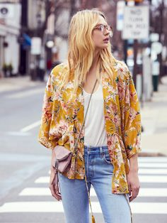 Only In Dreams Burnout Kimono | Gorgeous burnout floral kimono featuring an adjustable tie at the waist and an effortless femme silhouette. Sheer.
