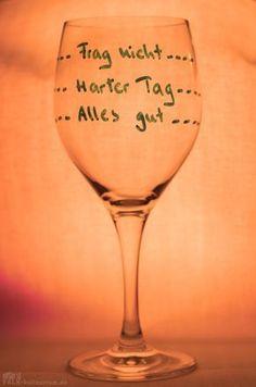 Mein neues Feierabend-Weinglas!