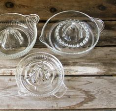 Vintage Glass Juicers - another product I wished I had saved just for the nostalgia Photo Vintage, Vintage Love, Retro Vintage, Vintage Items, Vintage Dishes, Vintage Glassware, Vintage Kitchenware, Nostalgia, Great Memories