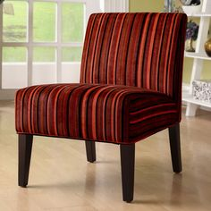 Have to have it. Brandt Fabric Accent Chair - Red Strip $179.99