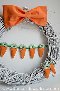 carrot wreath. #crafts