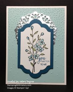 Stampin' Up! Touches of Texture set, Softly Falling embossing folder, Lots of Labels Framelits dies, Metallic Foil Doilies, Blender Pens, 2016-2018 In Color Dapper Denim.