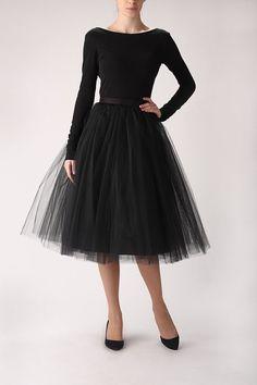 Black tutu tulle skirt petticoat long high quality by Fanfaronada, €120.00