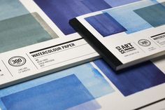 Blue tear-out watercolour books for Cass Art by Angus Hyland