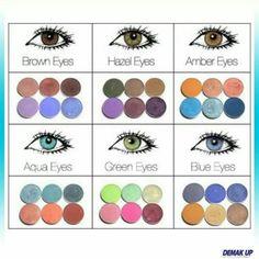 Oogschaduw bij oogkleur