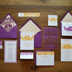 Oh my Heavens. Die-cut wedding invite. Insane. Not your average every day card. I can just imagine the pricing on that package. woooweee