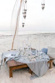 Beach wedding with l