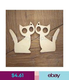 Scrapbooking 10Pcs Wooden Mdf Tags Kitten Cat Gift Tags Craft Hanger Decoupage Decoration #ebay #Home & Garden
