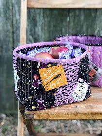 Cream Craft: Fab-Boo-Lous Candy Fruit Baskets for Riley Blake Designs Halloween Fabric, Riley Blake, Baskets, Candy, Cream, Fruit, Sewing, Crafts, Creme Caramel