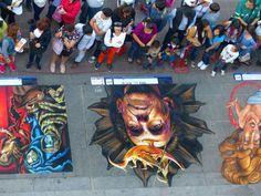#LeonoraCarrington by #adrydelrocio #streetart #streetartmx #mexico #chalk #Gises #chalkart #pastel