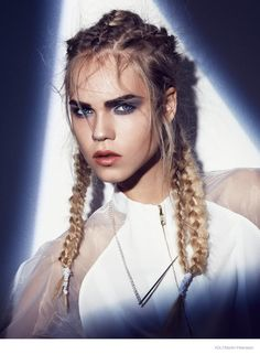 Line Brems Rocks Braided Hairstyles for Volt by Martin Petersson MUA Åsa Elmgren