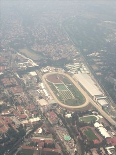 Hipódromo de las Américas (Racetrack of the Americas) is a thoroughbred racetrack in Mexico City that opened in 1943. #mexicocity #mexico #cdmx #travel #aerial #horseracing