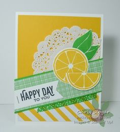 Lemons for by Chris Slogar - Cards and Paper Crafts at Splitcoaststampers Image Stamp, Cards For Friends, Paper Cards, Stamping Up, Recipe Cards, Cool Cards, Homemade Cards, Stampin Up Cards, Handmade Crafts