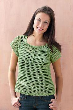 Ravelry: Mesh Raglan Pullover pattern by Lion Brand Yarn