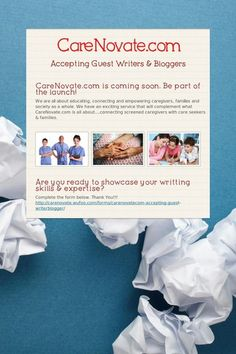 Accepting Guest #Writers & #Bloggers. Complete the form here http://www.smore.com/cmpq-carenovate-com