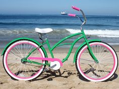 sixthreezero Watermelon Woman single speed, green/pink - 26 Beach Cruiser Bicycle
