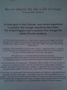 Twitter / rizmc: Danny Boyles words introducing ...