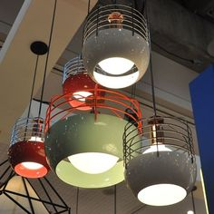 *** these go over the communal tables in clusters with the right colors   Bluff City 14 Inch Pendant and Roll & Hill Bluff City Pendants   YLighting