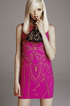 love this pink dress Versace for H&M
