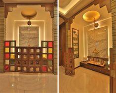 20 Mandir Designs for Indian Homes – Our Best Picks & Why! Pooja Room Door Design, Home Room Design, House Design, Gate Design, Temple Room, Home Temple, Small Room Interior, Temple Design For Home, Mandir Design