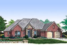 3 Bedroom House Plan with Optional 4th - 48068FM | Traditional, 1st Floor Master Suite, CAD Available, Den-Office-Library-Study, Jack & Jill Bath, PDF, Split Bedrooms | Architectural Designs