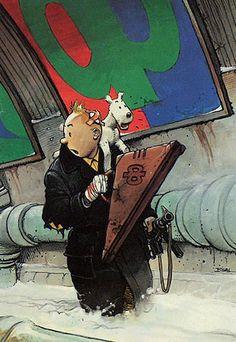 Enki Bilal - Tintin (tribute to Hergé)   # Pin++ for Pinterest #