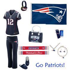 New England Patriots Outfit #Pats http://www.fansedge.com/New-England-Patriots-Womens-Apparel-_-1470104230_PG.html?social=pinterest_wwls_patriots