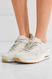 brand new 298fa 0d7b4 Nike - Nike Air Max 1 Sherpa Suede And Shearling Sneakers - White -