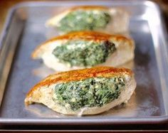 If you& looking for the best stuffed chicken breast recipe or how to make stuffed chicken breasts, you have come to the right place! This Spinach Stuffed Chicken is the MOST popular recipe on my website and I& sure your entire family will love it. Feta Chicken, Spinach Stuffed Chicken, Healthy Chicken, Stuffed Pork, Chicken Gravy, Rotisserie Chicken, Roasted Chicken, Baked Chicken, Ways To Cook Chicken
