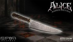 "$13.95 Mini Vorpal Blade from Alice Madness Returns. Only 9"" but about 60 bucks cheaper. http://www.epicweapons.com/shop/product.php?productid=16215=258=Y"