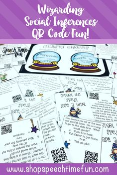 What Would You Do? Wizarding Social Inferences QR Code Fun. Have fun work on social inferences in speech and language therapy. Students will be motivated by using QR codes to reveal the answers.