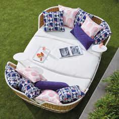 Ravello Oasis Daybed & Ottoman with Cushions by Porta Forma