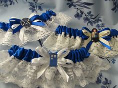 dr who wedding theme | Doctor Who themed wedding garters by emmadreamstar