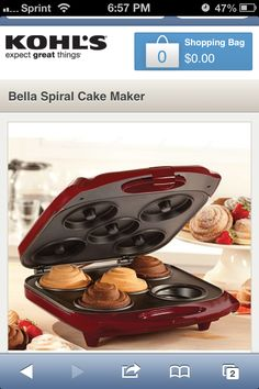 Wish list on pinterest kohls desk set and samsung for Bella personal pie maker recipes
