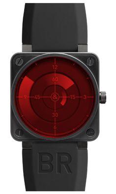 BELL & ROSS  Aviation BR01 Automatic  Men's Watch BR01 92 RED RADAR  $4,575