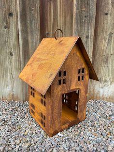 Windlichthaus mit Fenstern zum Hängen - Metalldesign-Kattner Bird, Outdoor Decor, House, Home Decor, Bird Food, Home And Garden, Windows, Decorating, Nice Asses