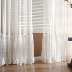 Paris white lace transparent curtain panel Intended to Measure curtains be more expensive while they Home Curtains, Curtains Living, Sheer Curtains Bedroom, White Lace Curtains, Bohemian Curtains, Sheer Curtain Panels, Panel Curtains, Valance, Cheap Comforter Sets