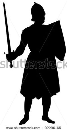 Castle Wall, Medieval Knight, Circuit Board, Silhouette, Stock Photos, Illustration, Art, Art Background, Kunst
