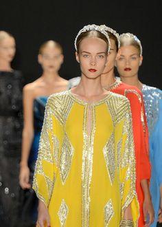 Naeem Khan Spring/Summer 2013 RTW runway finale at New York Fashion Week.