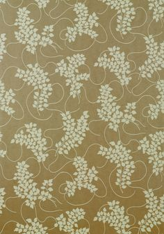 SPRING, Cream on Metallic Gold, T9281, Collection Avalon from Thibaut