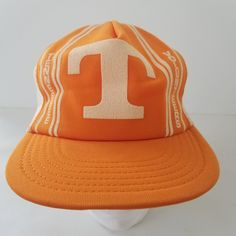 Vintage Tennessee Volunteers Vols Snapback Mesh Trucker Hat Cap Puff Print Made in the USA by TraSheeWomen on Etsy Hats For Sale, Tennessee Volunteers, Snapback, Baseball Hats, Mesh, Take That, Cap, How To Make, Vintage